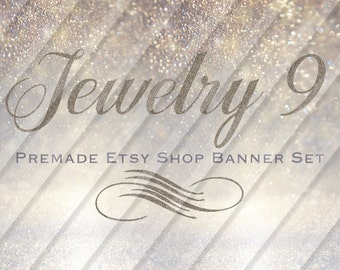 "Etsy Shop Banner Set - Graphic Banners - Branding Set - ""Jewelry 9"""