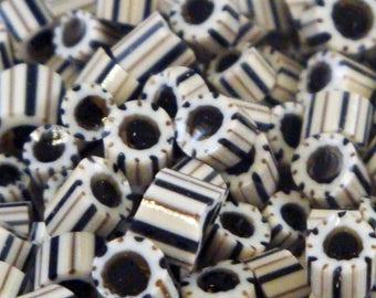 "Handmade Murrini Chips COE 104 For Lampwork Artists ""Dalmatian"" by Solaris Beads MB18"