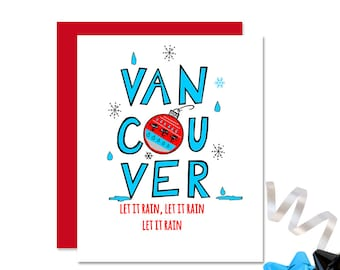 Vancouver Christmas Card - Vancouver Card - Canadian Christmas - West Coast Funny Christmas Card