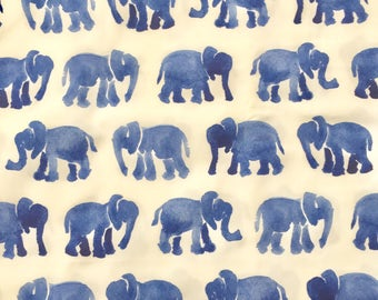 custom baby bib ~  blue watercolor elephants ~ chic couture ~ baby accessories ~ custom made baby bib from lillybelle designs