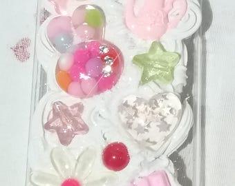 Kawaii Fairy Kei Bunny Flower Hear Tea Kettle Chocolate Bar Iphone 5c Deco Case READY TO SHIP