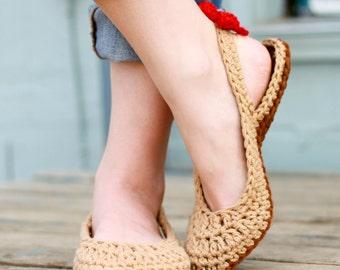 Crochet Slipper Pattern - Slingbacks (Woman sizes 3-12)