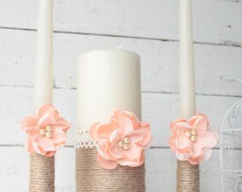 Rustic Wedding Unity Candle Set