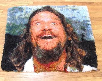 Big Lebowski Dream, Latch-hook rug, The Dude abides. Limited edition. It's art man!
