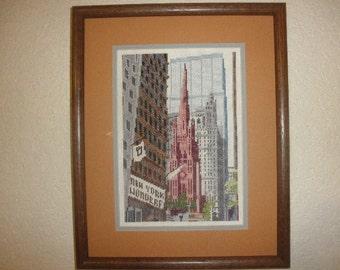 Needlepoint of New York work of Art