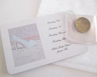 Wedding Sixpence, Lucky Sixpence Bridal Gift,  Silver Sixpence Wedding Gift, Sixpence for her Shoe, Bride To Be Gift,  Wedding Day Keepsake