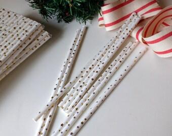 Gold Star Straws , Drinking Straws,  ,Wedding Straws, Christmas