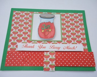 Thank you berry much Strawberry Jam card