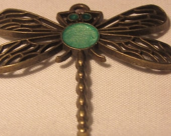 Green Dragonfly Pendant
