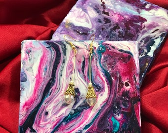 HolographicGold Drop Earrings
