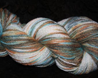 "Hand dyed ""lionheart"" Merino Bamboo worsted weight yarn"