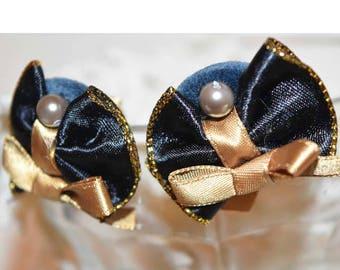Ribbon cluster ear Piercing/earring/Ribbons Earrings