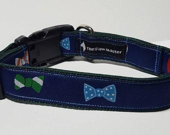 Bowtie Dog  Collar - Dress up Dog Collar -  FREE Shipping