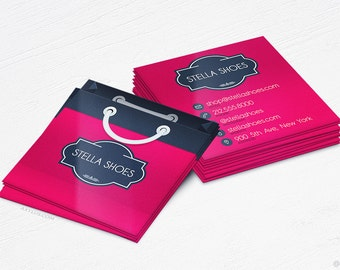 Shopping Bag Business Cards - Boutique/Store - Design and Printing - 16PT UV - 250, 500, 1000, 2500 | FREE Shipping |