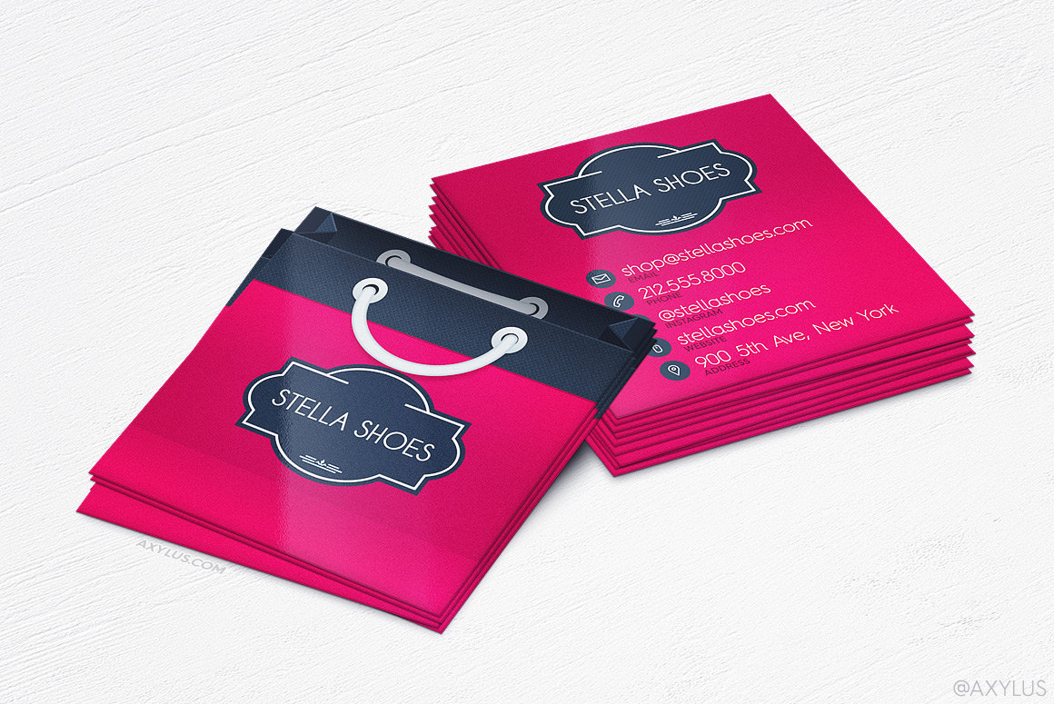 Shopping Bag Business Cards Boutique/Store Design and