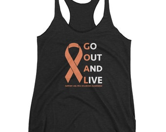 Go Out And Live-MS Awareness-Women's Racerback Tank