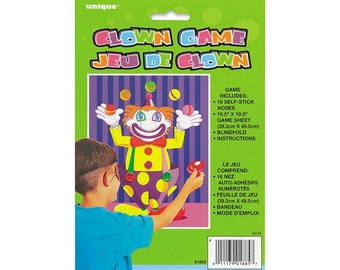 Clown Party Game - Pin the nose on the clown