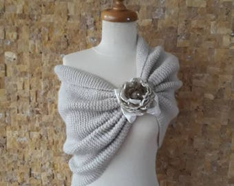 Paris Hilton Begie Capelet-Any season knitting wedding shawl, wedding accessories, Weeding shrug, women shawl, white wedding,by starknitting