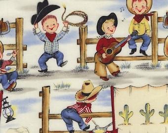 lil cowpokes Michael Miller Fabric By The Yard Cowboy Fabric Western Fabric