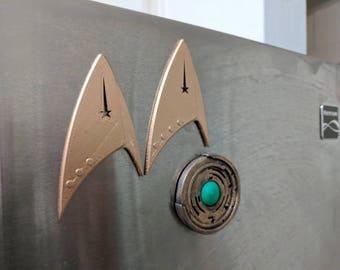 Discovery Badge Fridge Magnet 3D Printed.