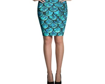 Queen of Scales Pencil Skirt