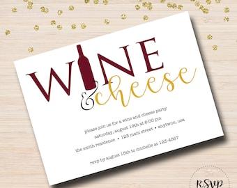 Wine and Cheese Wine Tasting Invitation