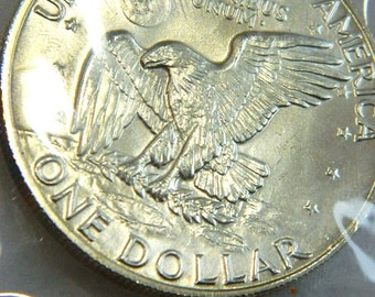 1974 EISENHOWER 40%  UNCIRCULATED  Silver Dollar Collectible Coin