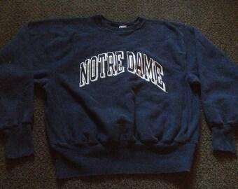 Vintage Notre Dame Fighting Irish Champion Reverse Weave Crewneck Sweatshirt Size L