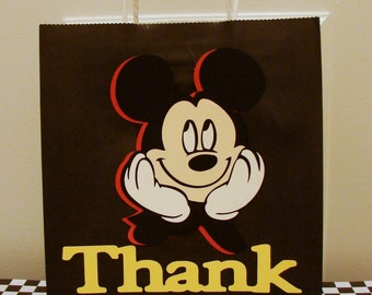 Mickey Mouse Gift Bags - Mickey Mouse Favor Bags - Mickey Bags- 10 Per Pack - Handmade - Customizable