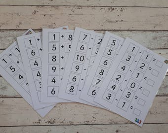 Numeracy activity for children, addition and subtraction, number sentences, classroom activity, number boards, teaching resource, SEN, EYFS