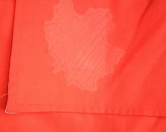 Red taffeta Maple leaf messenger bag