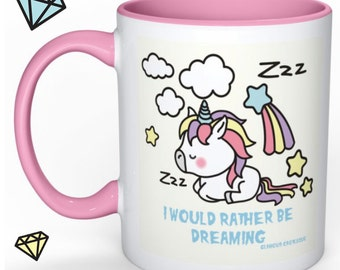 kawaii decora super cute unicorn mug