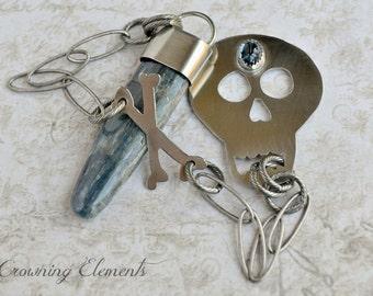 Bones: Blue Kyanite Pendulum