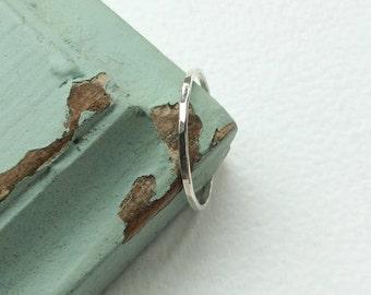 Super skinny 1mm ring, thin ring, thin silver ring,