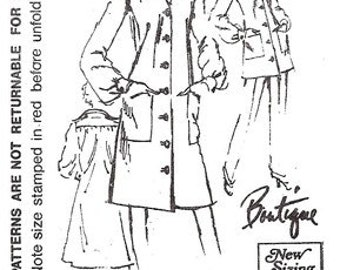 Spadea 72732 Boutique Smock Dress 1972 / SZ12 FACTORY FOLDS