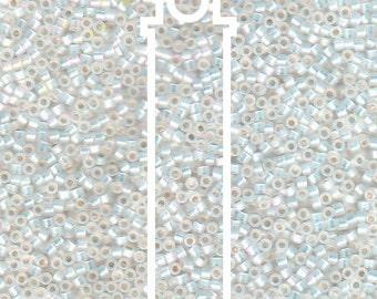 Miyuki Delica DB222 Seed Beads 11/0 WHITE OPAL AB 7.2 Gram