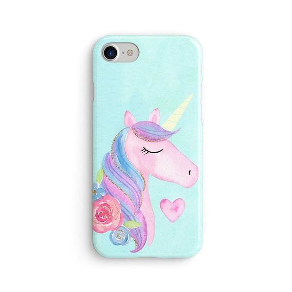 Rainbow hair unicorn iPhone X case - iPhone 8 case - Samsung Galaxy S8 case - iPhone 7 case - Tough case 1P085