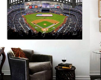 Yankee Stadium Opening Day Canvas Print - Large 36 x 24 Yankees