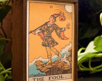 Tarot Cards Box The Fool Stash Box The Fool Tarot Treasure Box Tarot The Fool Mindfulness Gift The Fool Spiritual Gift