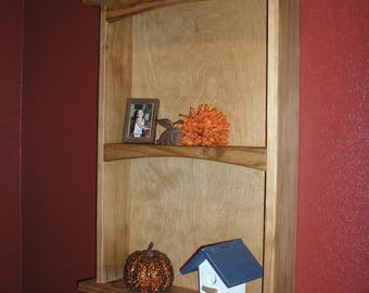 All solid pine wall shelf