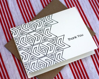 Tribal Notes #13 - A2 Printable Thank You Card (One Design)
