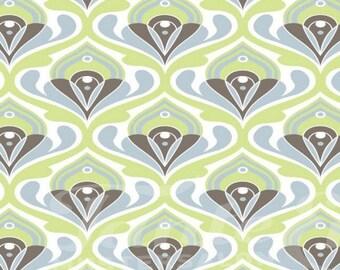 Tante Ema Green Floral Print Cotton Fabric, Quilt Fabric,Quilting Cotton, Patchwork Fabrics,Dressmaking Fabric - 100% Cotton