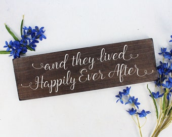 And they lived happily sign And they lived happily ever after sign Rustic Here Comes the Bride Sign Rustic Wedding Sign