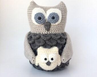 Amigurumi crochet pattern: Mama and baby owl