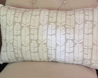 Grey and white Feather Pillow