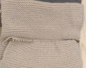 Scarf chunky knit wool + Alpaca /scarf wool + Alpaca