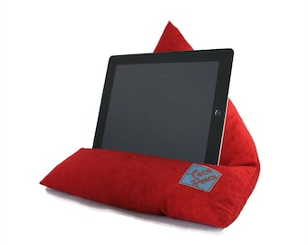 iPad Stand, Red Tablet Desk Accessories, Relieve Neck and Shoulder Pain iPad Pillow Cushion, Tablet Stand, Present For Mum, Gift For Her