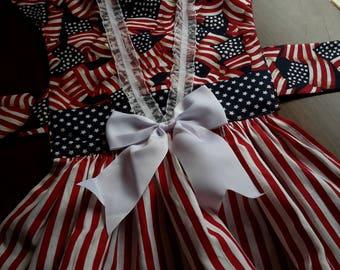 Patriotic Dog Dress -Med