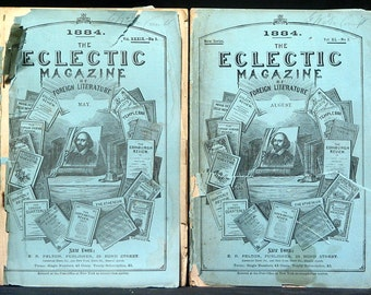 6 Eclectic Magazine of Foreign Literature Magazines from the 1800s Illustrated Engravings World History