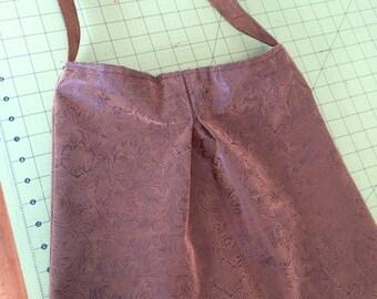 Western Brown Medium to Large Vegan Leather Pleated Shoulder Hobo Bag/Purse